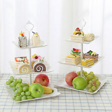 3 Tier White Cake Stand Plastic Cupcake Wedding Party Display Fruit food Stand