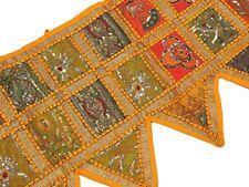 "Yellow Decorative Window Treatments Indian Valance Textile Doorway Toran 80"""