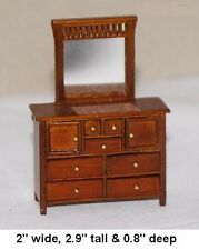 Dresser with mirror 1:24 HALF SCALE DOLLHOUSE MINIATURES Heirloom Collection