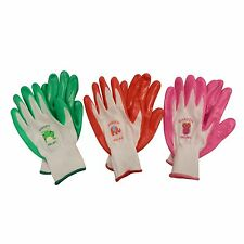 Hortex GRUBS KIDS HANDI-MATE GARDEN GLOVES 6yrs+ Nylon Fabric Finger Tabs *AUST
