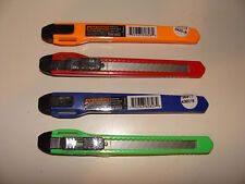 4 Utility Knife Paper / Box Cutters Snap-Off Sharp Razor Blade Retractable NEW