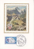 Carte Postale 1er jour Soie 1974 Club Alpin Centenaire