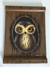 Vintage Wooden Hand Painted Owl - Signed