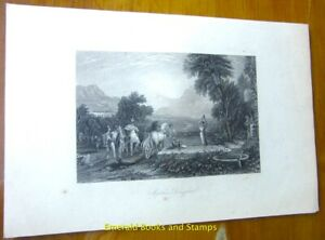 "EBS 19th Century Original Steel Engraving: ""Jephtha's Daughter"" 154"