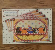 Set of 4 Mary Engelbreit Decorative Cork Backed Teapot Design Placemats in Box