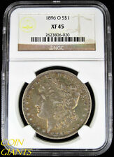 1896-O Morgan Silver Dollar NGC XF45 Extra Fine Toned EF New Orleans Mint Coin