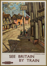 Wall Calendar 2019 [12 pages A4] Britain Towns Vintage Travel Poster Train M579