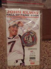Vintage John Elway Hall of Fame 2004 Broncos Collectors Pin