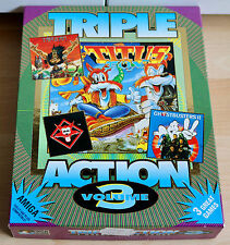 Triple Action Volume 3, 3 jeux pour Commodore-Amiga/Neuf dans sa boîte/en boîte