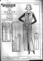 ▬► Patron Couture Modes et Travaux Robe T 38 40 42 44 46 Août 1993