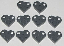 Lego Lot of 10 Dark Bluish Grey Hearts Valentines Day Necklace Parts