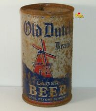 1930s Irtp O-I Old Dutch Brand Flat Top Beer Can Brooklyn,New York Windmill Grey