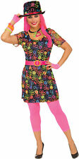 Neon Flower Womens Adult Multi Colored Party Costume Dress-STD