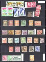 FRANCE TUNISIA NEW CALEDONIA 3 STOCK PAGES COLLECTION LOT SOME MINT