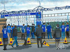 Birmingham City FC St Andrew's Stadium High Quality Framed Art Print. Approx A4.