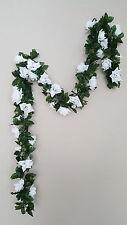 6ft white rose garland silk flower wedding home office