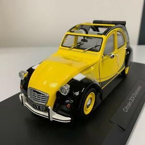 Norev Citroën 2CV Charleston 1982 Yellow / Black 1/18 181493 0320 12