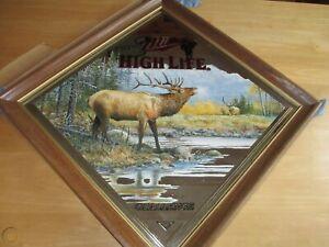 Miller High Life Elk Mirror - Series III - Diamond Shaped - Mint in Original Box