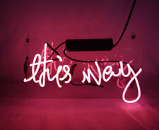 "'This way' illuminated sign Art Garage Neon Light Sign 12""x8"" [High Quality]"