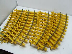 LIONEL G SCALE CURVE TRACK YELLOW 10 SECTIONS