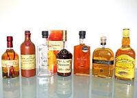 7 Flaschen Spirituosen: Obstbrand, Whisky, Hennessy Cognac, Grappa 0,7l.45,0%vol