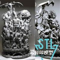 Unpainted Batman Sanity Resin Kits Model Statue GK Unassembled 30cm