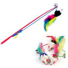 Haustier Katze Elastische Gummi Katzenangel Spielangel Spielzeug Maus mit Bell