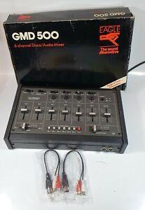Eagle The Sound Alternative GMD 500 6 Channel Disco / Audio Mixer W Box -Working