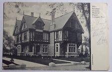 1907 Photo Postcard Of Parsonage Unitarian Memorial Church Fairhaven Ma