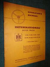 1958 / 1959 IH / INTERNATIONAL SEMI TRUCK OWNER'S MANUAL ORIGINAL!