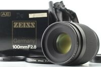 【Almost Unused in BOX】CONTAX Carl Zeiss Makro Planar T 100mm F2.8 AEJ From JAPAN