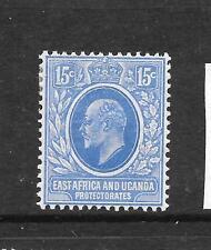 EAST AFRICA & UGANDA 1907-08   15c   KEVII   MLH   SG 39