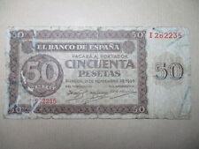 BILLETE DE 50 PESETAS DE 1936  BURGOS