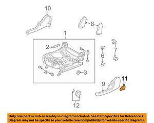 Pontiac GM OEM 03-04 Vibe Front Seat Track-Recline Handle Lever Left 88970686