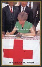 Niger 1997 MNH Princess Diana Red Cross 1v M/S Royalty Medical Health Stamps