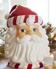 Pottery Barn SANTA COOKIE JAR New