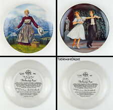 Set of 2 Collector Plates Mint! Sound Of Music, Edwin M Knowles (First & Fourth)