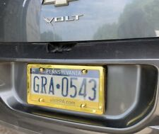 UNBREAKABLE Flat Clear License Plate Shield + GOLD Frame for CHEVY