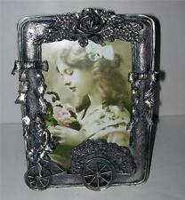 "BEAUTIFUL  PEWTER ""VICTORIAN STYLE"" BICYCLE PICTURE FRAME"