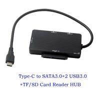 USB 3.1 Type-C to SATA 3.0 III SD TF Micro SD Card Reader HUB Adapter