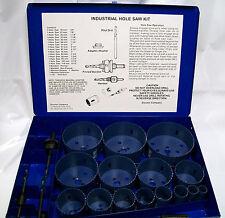 20pc Industrial Hole Saw Kit Bi-Metal & Metal Case