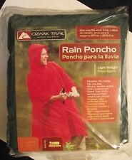 NEW Ozark Trail Waterproof Rain Poncho One Size  Forest Green - Stay Dry! (A2)