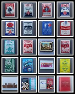 🃏Playing Cards Decks /Bicycle~Hoyle~Bee~Stud~Casino /Red~Blue *You Choose Deck*
