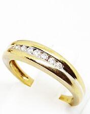 Splendido 9ct Oro Giallo .12tcw diamante mezza eternità anello dimensione J 1/2 marchiato
