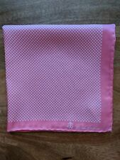 Brooks Brothers Pink X Pattern Pocket Square Pure Silk New in Package