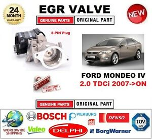 FOR FORD MONDEO IV 2.0 TDCi 2007-ON Electric 5-PIN EGR VALVE with GASKETS/SEALS