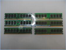 lot de 6 BARRETTES DE MEMOIRE 512MO DDR2  - PC2-5300 667MHZ DIMM PC FI / Memory