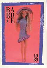 """Barbie Collectible Fashion Card """" Barbie Jeans Fashions """" 1989"""