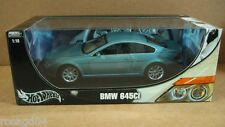 "Hot Wheels BMW 645Ci Blue Car 10"" Long Die Cast 1:18 Scale New in Box!  # C7530"