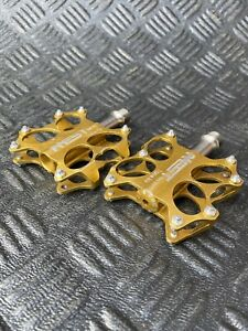 Aest YRPD 07T Titanium Axle MTB Pedal In Gold Mountain Bike
